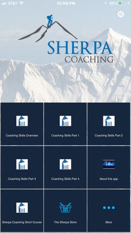 Sherpa's You Lead app - Coaching Skills for High Performance.