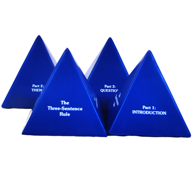 Three Sentence Pyramid (Set of 4)