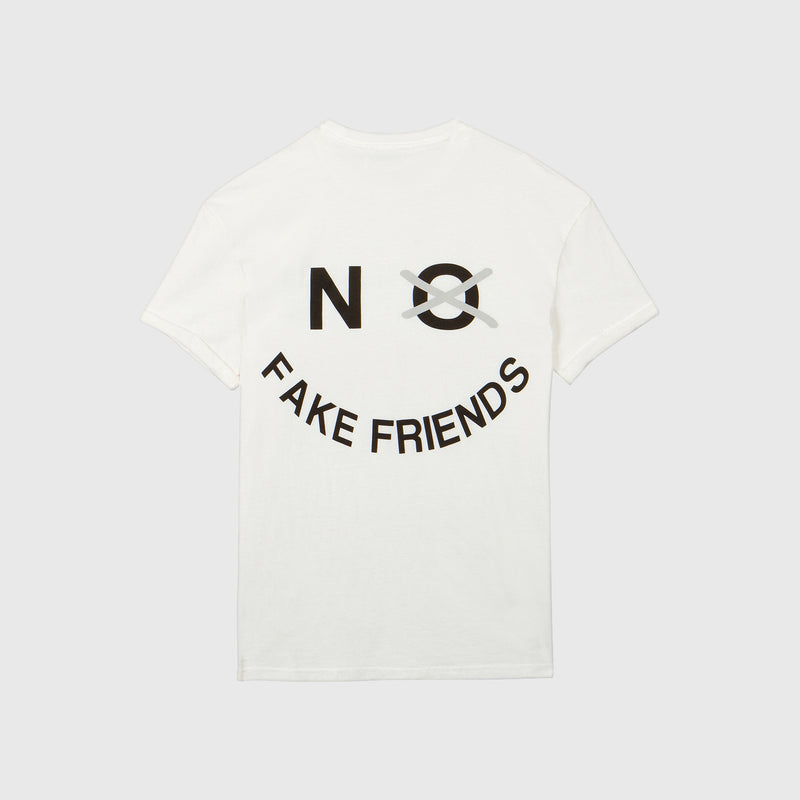 NO FAKE FRIENDS TEE - BASIC CREAM