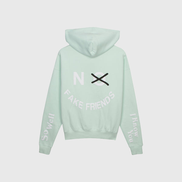 NO FAKE FRIENDS HOODIE - MINT SLUSH