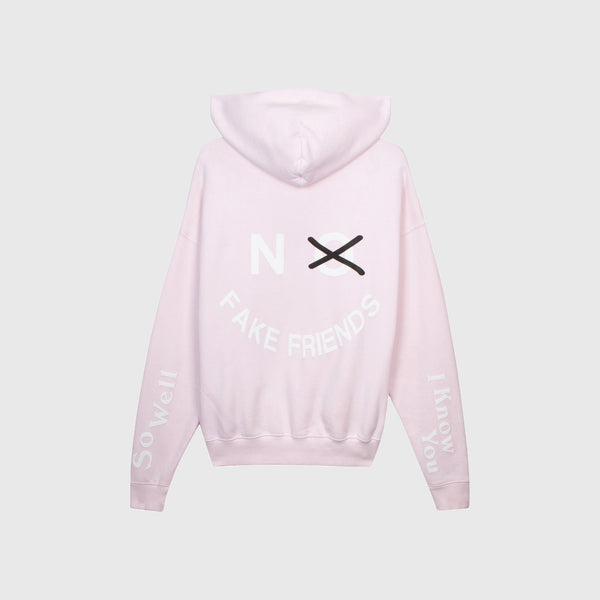 NO FAKE FRIENDS HOODIE - YUMMY PINK