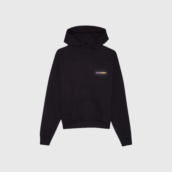 NO FAKE FRIENDS HOODIE - AURORA REFLECTIVE BLACK