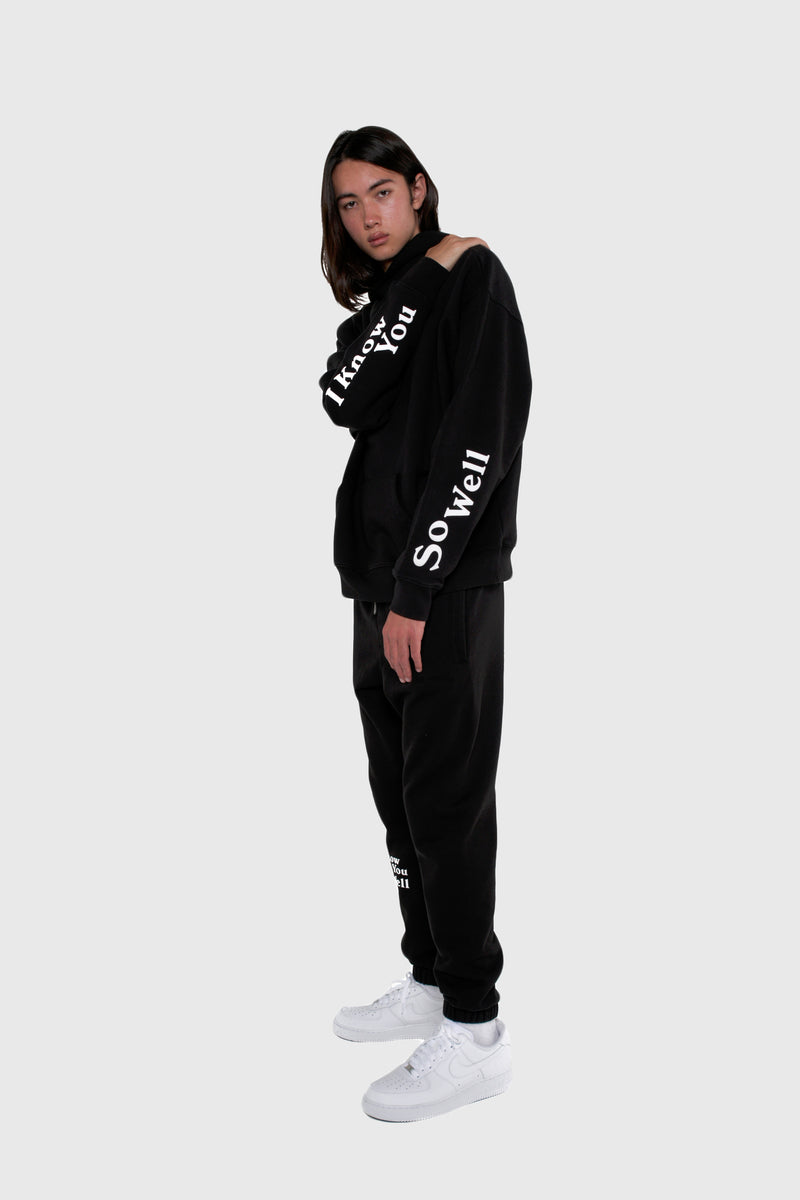 NO FAKE FRIENDS HOODIE, HALF SHADOW HOODIE, HOODIE, BLACK HOODIE, OVERSIZED HOODIE, BLACK LOGO HOODIE, BLACK PULLOVER, IKYSW, I KNOW YOU SO WELL HOODIE, IKYSW, I KNOW YOU SO WELL, HALF SHADOW HOMIES
