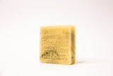 Close up of shampoo bar for fine har on white background