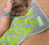 Beach Towel - Organic Cotton, Herringbone Print