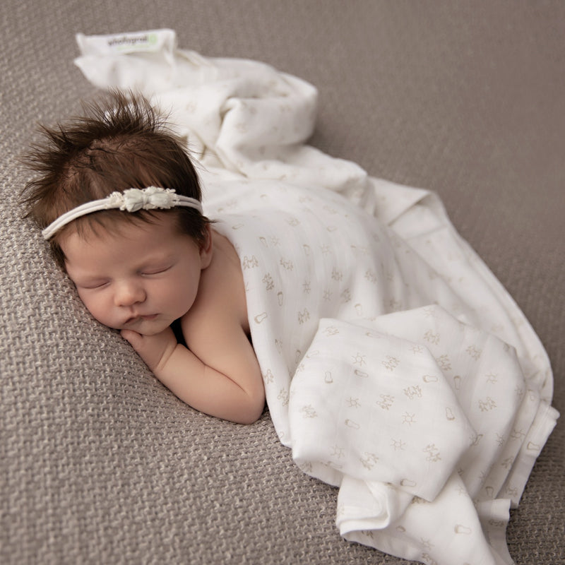 Double Muslin Baby Wrap - Organic Cotton