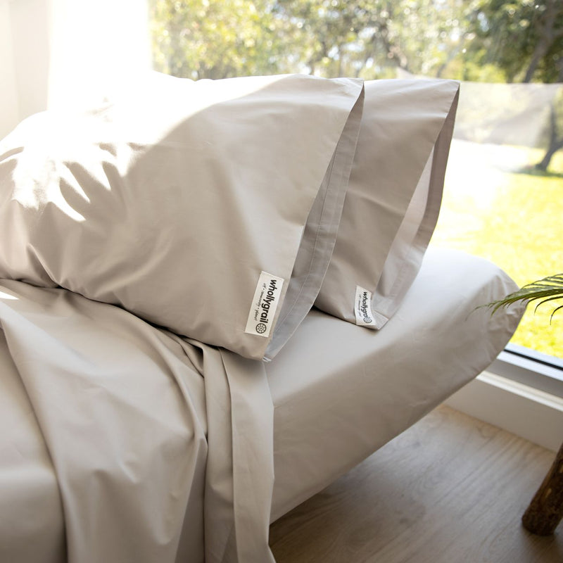 Cotton Sheet Set - Organic Stone Percale