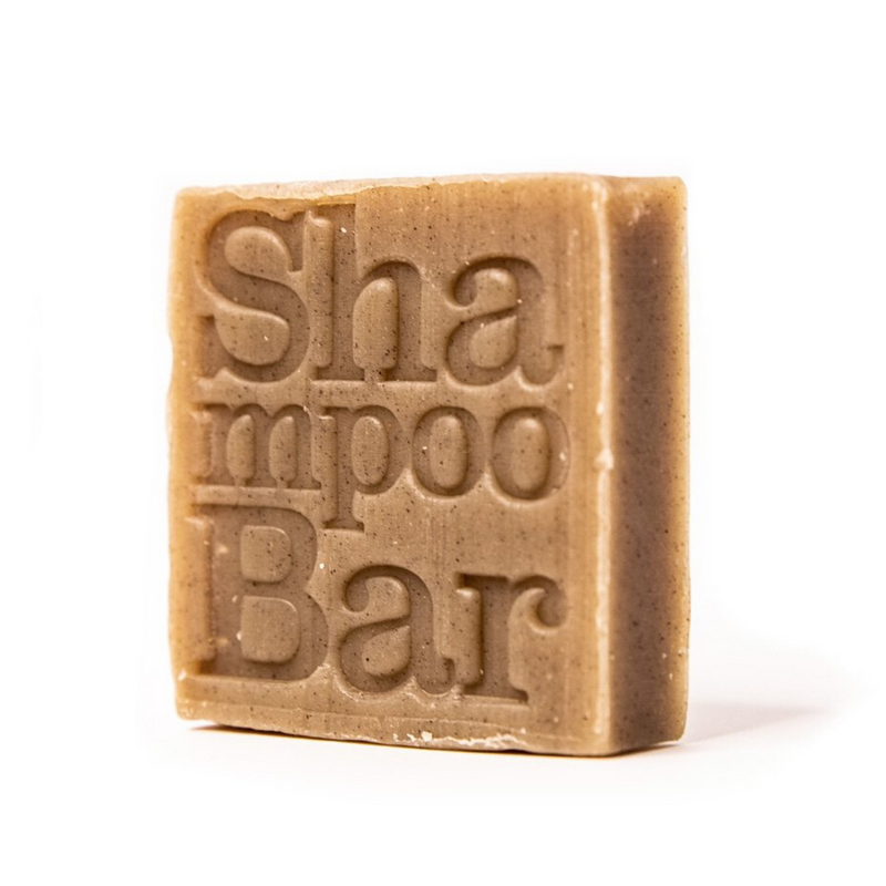Close up of shampoo bar on white background