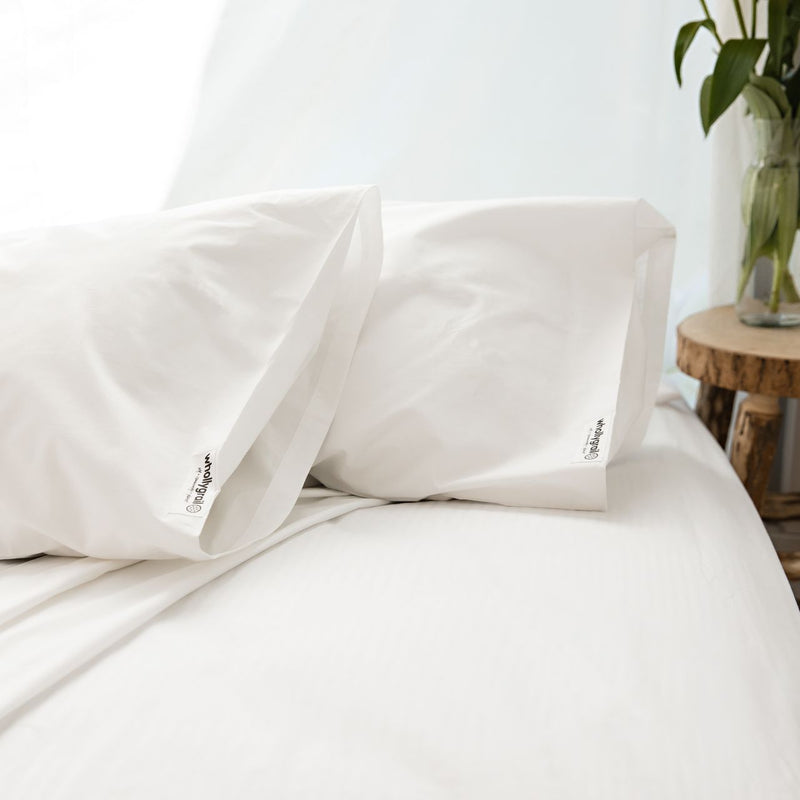 Cotton Sheet Set - Organic White Percale