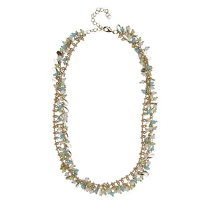 12K Gold Plated Mixed Bead Multi Strand Necklace Summer2015Newdesigns
