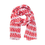 Red Ikat Print Scarf