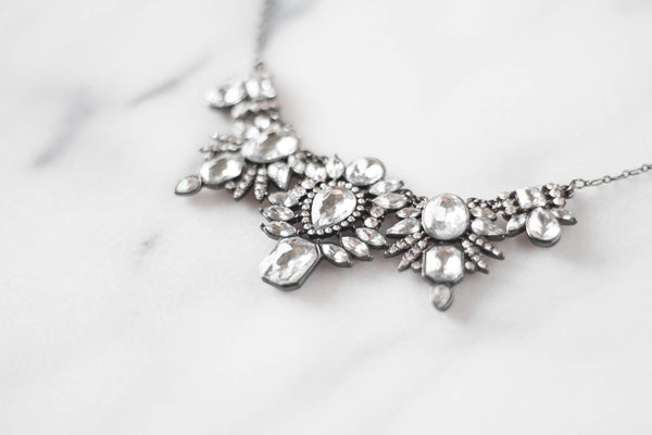 Art Deco Diamond Statement Necklace