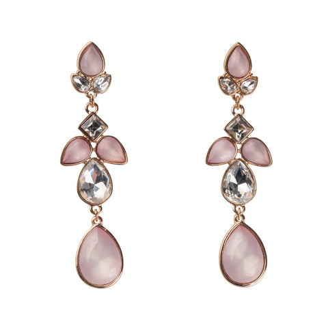 Pink Drop Statement Earrings