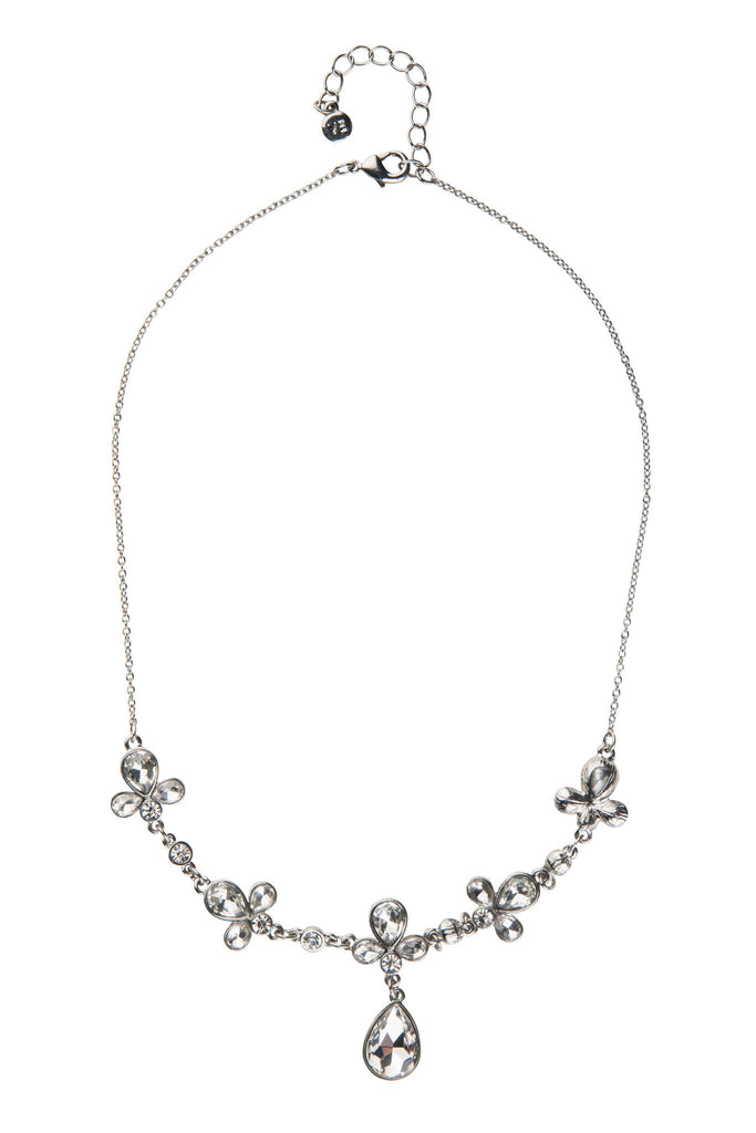 Delicate Crystal Statement Necklace