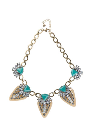 Turquoise & Bronze Statement Necklace