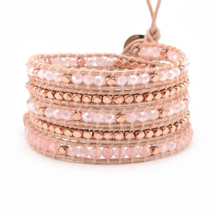 Pink Crystals with Rose Gold Accent on Blush