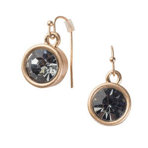 Crystal Earrings - Black Diamond