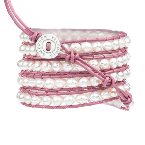 Freshwater Pearls on Pink