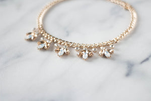 Amber And White Crystal Statement Necklace Bridal Collection