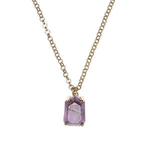 Amethyst Stone Pendant Necklace Bridal Collection