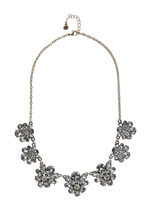 Clear Diamond Floral Statement Necklace Bridal Collection
