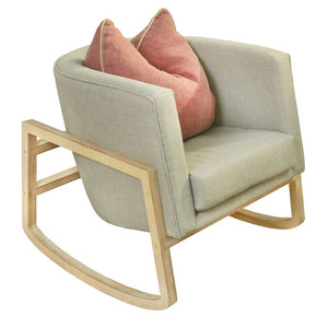 Catalaya Rocker with Velvet Fabric
