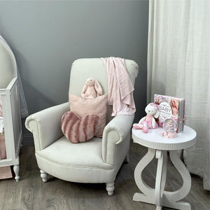 Classic Feeding Chair Velvet Fabric
