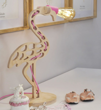 Load image into Gallery viewer, Ivy Flamingo Lamp with Coloured Cord
