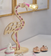 Ivy Flamingo Lamp with Coloured Cord