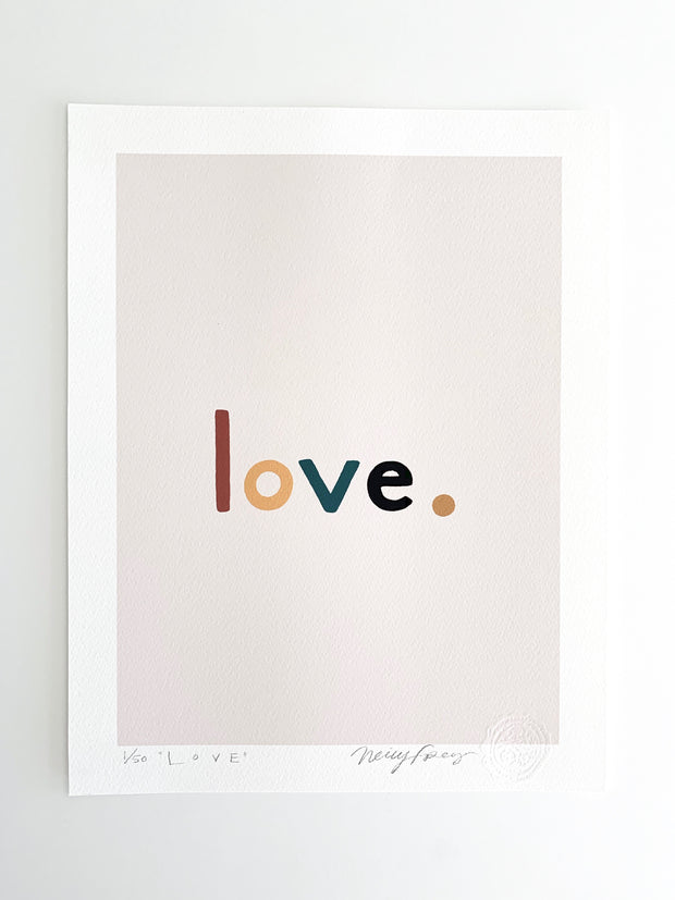 The Love Print: Valentine Pink limited edition