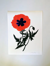 Load image into Gallery viewer, Poppy Cameo Giclee