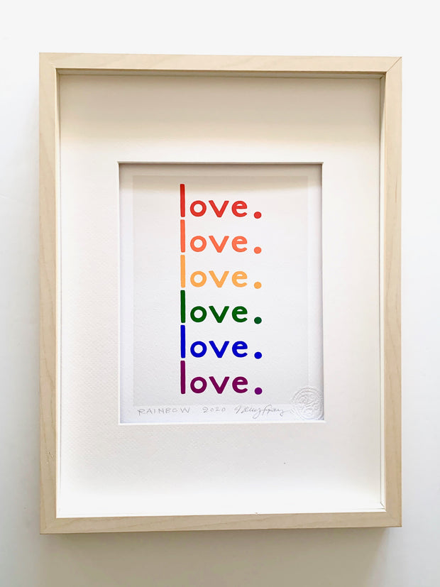 The Love Print: RAINBOW