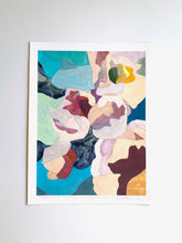 Load image into Gallery viewer, Turquoise Floral Abstraction Giclee