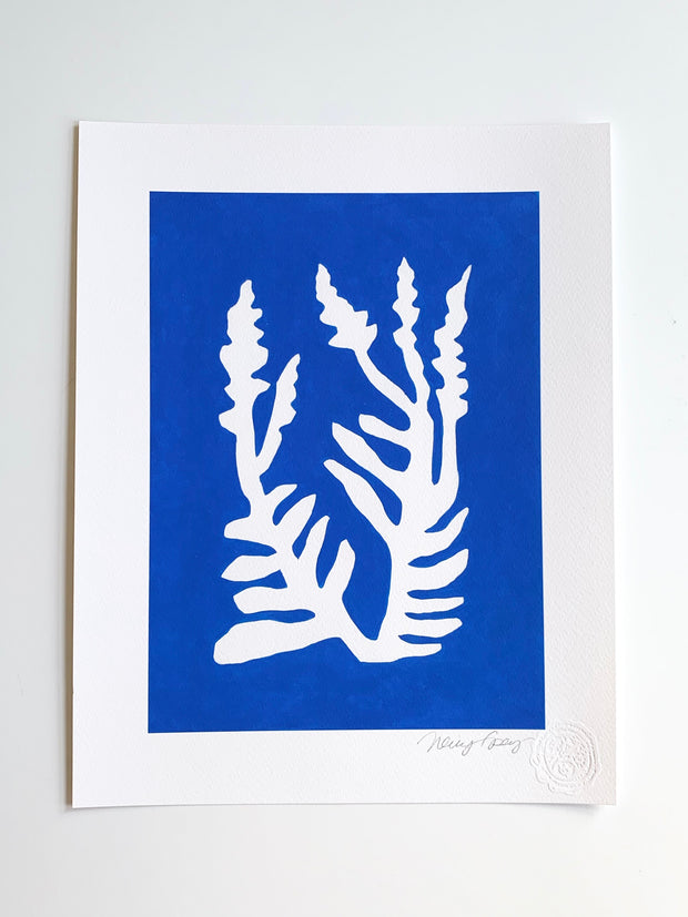 Sunprint No. 10 Giclee - Bright Blue