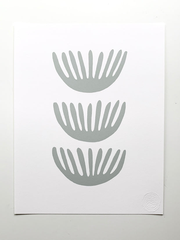"""Anemones"" SIMPLE SHAPES Giclee - ash/white"