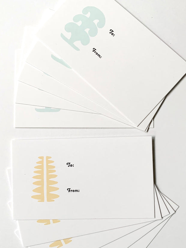 Set of (10) Simple Shapes Gift Tags