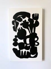 Brutalist Bouquet Black And White Abstraction Giclee