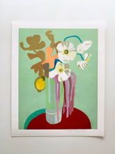 Load image into Gallery viewer, Japanese Anemone With Lemon Bouquet Giclee