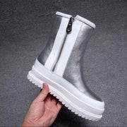 Snow Boots New 2020 Women's Shoes Winter Thick Sole Plaform Ankle boots Thicken Plush Warm Cotton Shoes - Bottines Femmes FRANCE