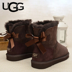 UGG Boots 5062 Original Ladies Classic Mini Bailey Bow Boots 1 Ribbon Boot Uggs Snow Shoes Winter Boots Women's Class Fur Warm - Bottines Femmes FRANCE