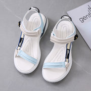 Sports Sandals 2020 New Summer Flat with Korean Harajuku Web Celebrity Women's Shoes Roman Couple Beach Shoes Microfiber Shoes - Bottines Femmes FRANCE