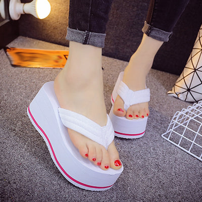 SAGACE Women's Slippers 2019 New Fashion EVA Non-slip Platform Shoes Wedges Heel Women Outdoor Beach Slippers Sandals 941935 - Bottines Femmes FRANCE