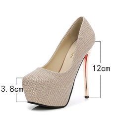 sexy stiletto women's shoes 14cm high heels fashion super high heel shoes platform sexy pump high heels bridal shoes wedding - Bottines Femmes FRANCE