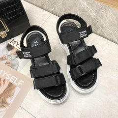TUINANLE Gladiator Platform Women's Sandals 2020 Summer Fashion Women Chunky Beach Sandal Denim Comfortable Sandalias Mujer - Bottines Femmes FRANCE