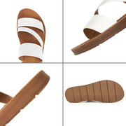 U-DOUBLE Summer Women Casual Shoes Slippers Rome Retro Thick Bottom Open Toe Sandals Beach Slip On Slides Brand Design Sandals - Bottines Femmes FRANCE