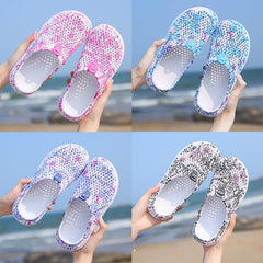 Summer Women's Beach Sandals Wading Clogs Water Shoes Breathable Home Anti-Slip Slippers - Bottines Femmes FRANCE