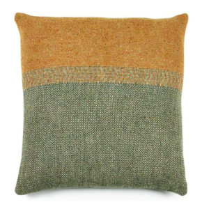Jules Pillow - Green Herringbone
