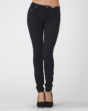 Load image into Gallery viewer, Everyday Effortless Stretch Skinny Jeans in Black