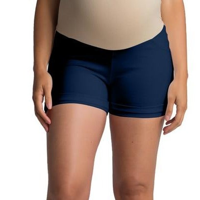 Keeping it Cool Ponte Shorts in Navy MATERNITY
