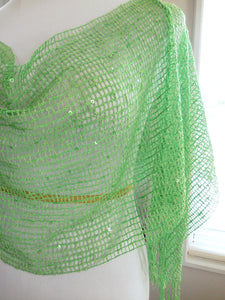 Green Sequin Layer